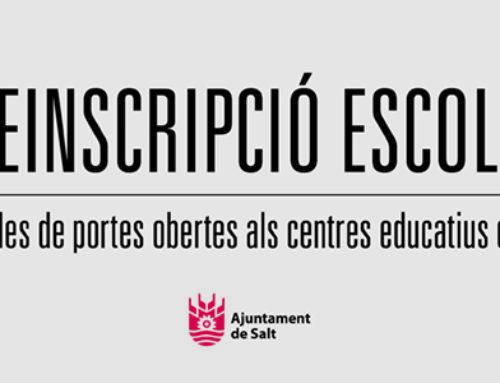 Jornades de Portes Obertes i Preinscripció escolar als centres educatius de Salt – Curs 2021/22