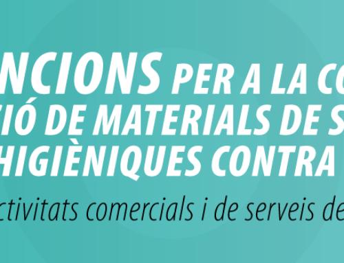 Subvencions per la compra o instal·lació de materials de seguretat i mesures higièniques contra la COVID19