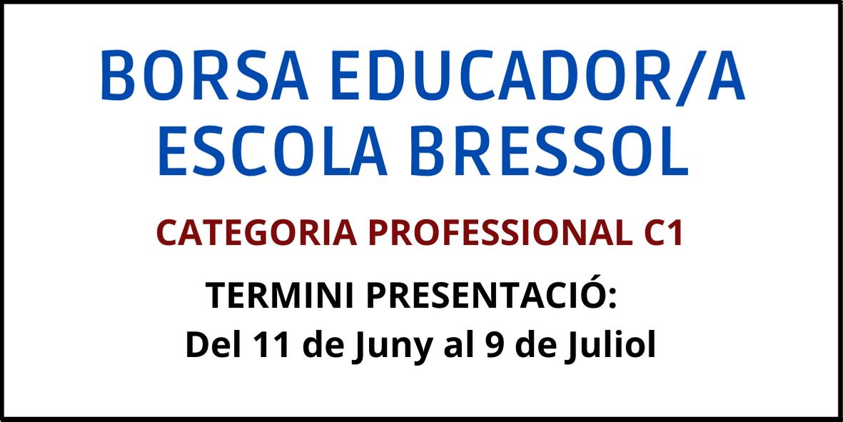 Borsa educador/a escola bressol