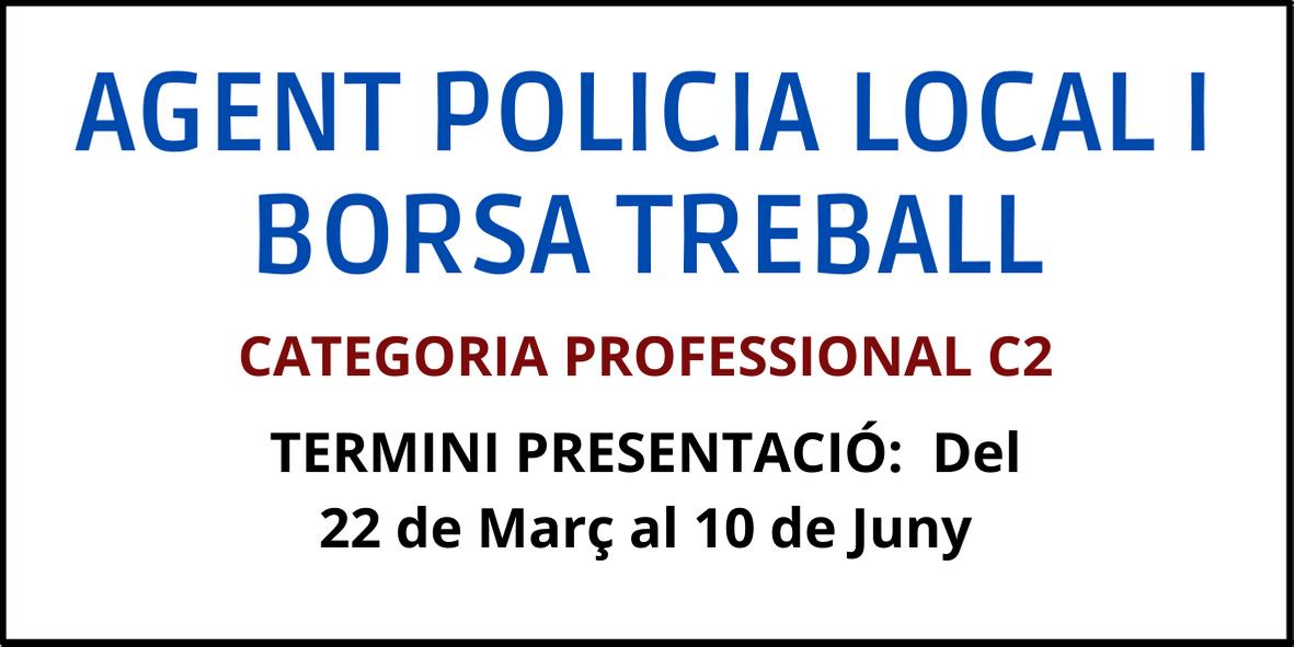 Borsa treball agent policia local