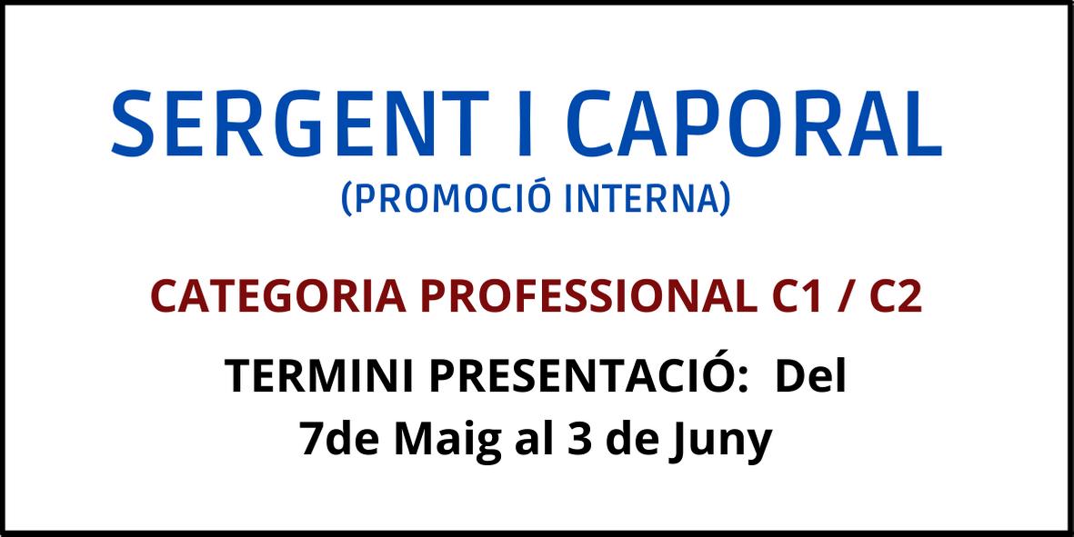 Promoció interna Sergent i caporal