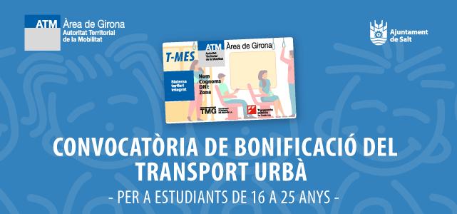 Convocatòria de bonificació del transport urbà per estudiants